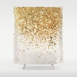 Sparkling Gold Glitter Glam #2 #shiny #decor #art #society6 Shower Curtain