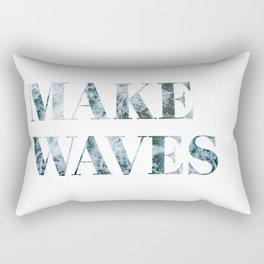 make waves Rectangular Pillow