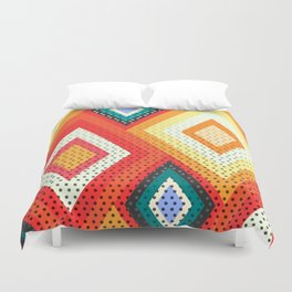 Decorative rhombs Duvet Cover