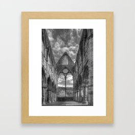 Tintern Abbey in Monochrome Framed Art Print