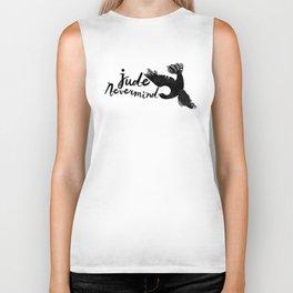 Jude Nevermind logo Biker Tank