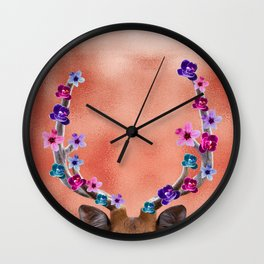 Spring Renews Deer Wall Clock