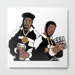 Rap Legends Paid in full Metal Print