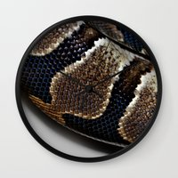 monty python Wall Clocks featuring Python by Elaine C Manley