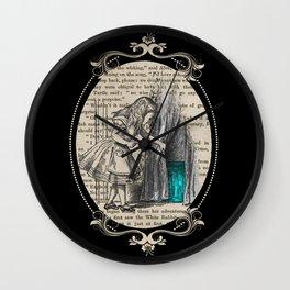 Follow The White Rabbit - Vintage Book Wall Clock