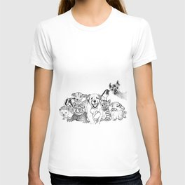 Happiness is animals T-shirt