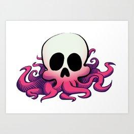 Squid Skull Art Print