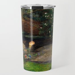 Ophelia Painting by John Everett Millais Travel Mug