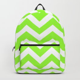 French lime - green color - Zigzag Chevron Pattern Backpack