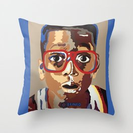 """Steve Urkel """"Did I Do That"""" Throw Pillow"""