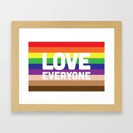 Love Everyone Flag Framed Art Print