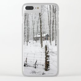 Shack in the Snow Clear iPhone Case