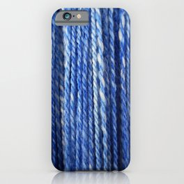 Blue White Handspun Yarn iPhone Case