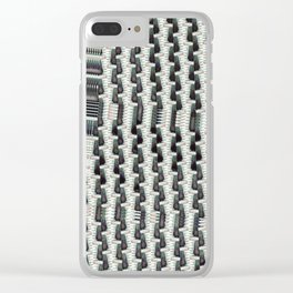 Crop Tracks. Clear iPhone Case