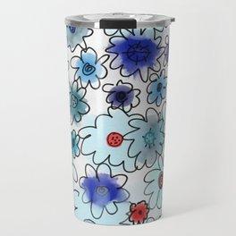 Fleur bleue Travel Mug
