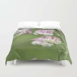 Columbine Pink and White Duvet Cover