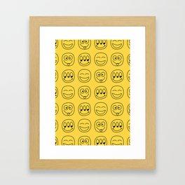 Smile Emoji Framed Art Print