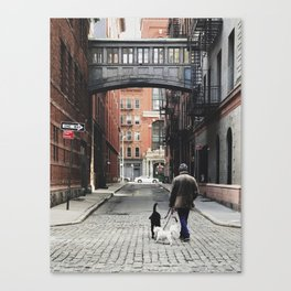 TriBeCa 2017  |  morning constitutional Canvas Print