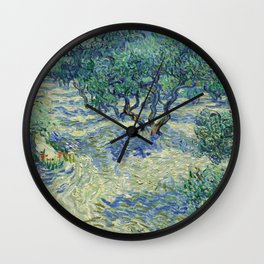 Olive Orchard by Vincent van Gogh Wall Clock
