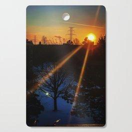 Winter Sunset Cutting Board