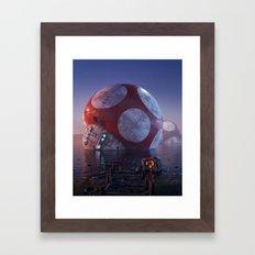 Mario Super Mushroom Framed Art Print
