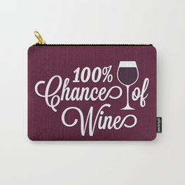 100% Chance of Wine Carry-All Pouch