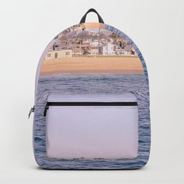 Vintage Newport Beach Print {2 of 4} | Photography Ocean Palm Trees Magenta Tropical Summer Sky Backpack