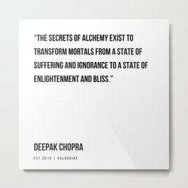 74   | Deepak Chopra Quotes | 191006 Metal Print