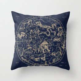 Gold Ceiling | Zodiac Skies Throw Pillow