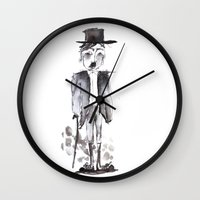 chaplin Wall Clocks featuring CHAPLIN by Halley's Coma