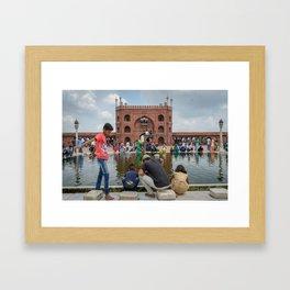 Ablution Pool at Jama Masjid Mosque Framed Art Print
