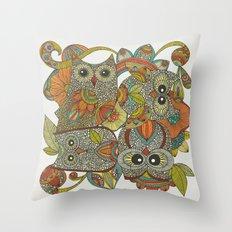 4 Owls Throw Pillow