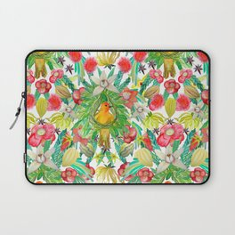Exotic watercolor floral with tropical fruits and flowers Laptop Sleeve