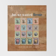 We wanted Bernie Throw Blanket