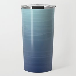 Light blue to navy painted gradient ombre Travel Mug