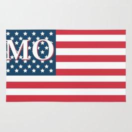 Missouri American Flag Rug