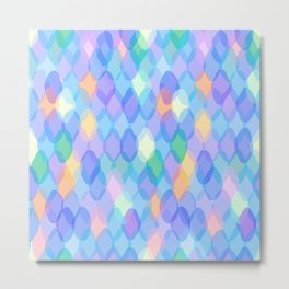 Abstract geometric pattern with rhombus Metal Print