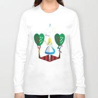 alice wonderland Long Sleeve T-shirts featuring Wonderland by AmadeuxArt