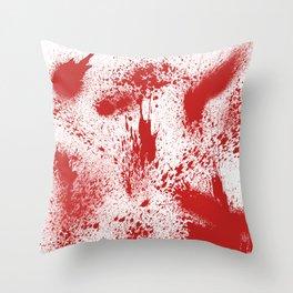 Bloody Blood Spatter Halloween Throw Pillow