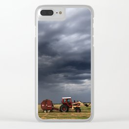 Baling Hay Before The Storm Clear iPhone Case