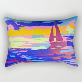 Evening Sail Rectangular Pillow