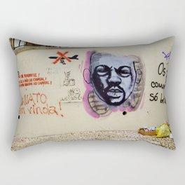 ANTI WAR GRAFFITI IN LISBON  Rectangular Pillow