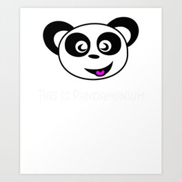 Bear Pand Bear Pandamonium Art Print