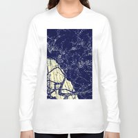 the lights Long Sleeve T-shirts featuring Lights by Maria Giorgi