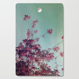 Red Leaves Cutting Board