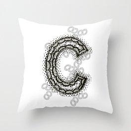 Color Me C Throw Pillow