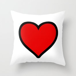 Heart Shape Digital Illustration, Modern Artwork Throw Pillow