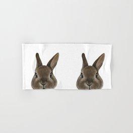 Netherland Dwarf rabbit illustration original painting print Hand & Bath Towel