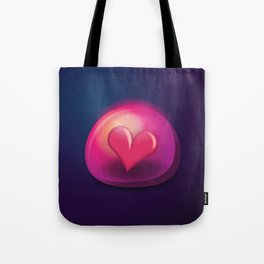 Heart Bubble Tote Bag