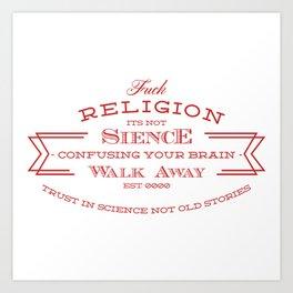 religion tee Art Print